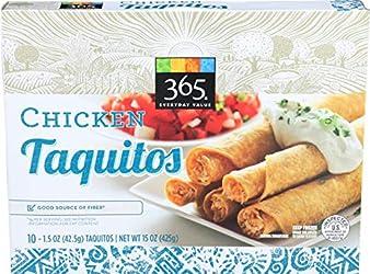 365 Everyday Value, Chicken Taquitos, 1.5 oz, 10 ct, (Frozen)
