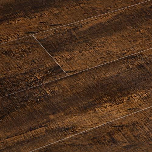 Vesdura Vinyl Planks from BuildDirect   Brown   Waterproof   Click Lock   5.5mm   Rigid Core   Underpad Attached   165.48 SqFt/Bundle   FloorScore