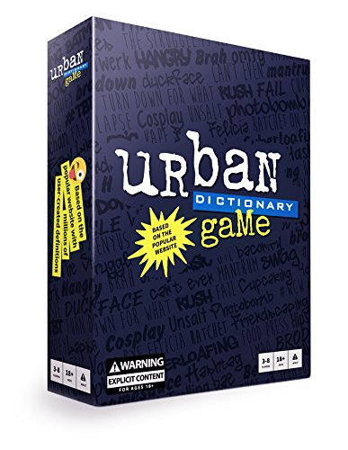 Games that are great if you like cards against humanity include you testing your urban slang.
