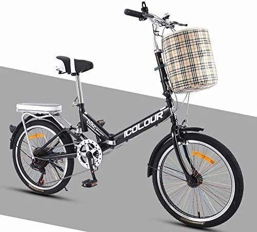 Bicycle Plegable pequeña mini variable de rueda de la bicicleta portátil de 7 velocidades velocidad de 20 pulgadas de bicicletas de aleación de aluminio de doble capa Frame cuchillo anillo espiral de