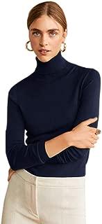 cobalt blue turtleneck sweater