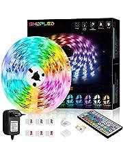 Tira LED 6M, SHOPLED RGB SMD 5050 Luces LED Kit de Cambio de Color con Control Remoto de 44 Teclas y Fuente de Alimentación, para Dormitorio, Cocina, TV, Fiesta, Decorativas Habitacion