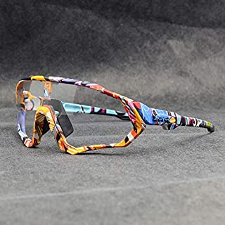 ZGBQ Gafas de ciclismo KAPVOE para hombres y mujeres, gafas de sol deportivas fotocromáticas, polarizadas, nuevas gafas de ciclismo para correr
