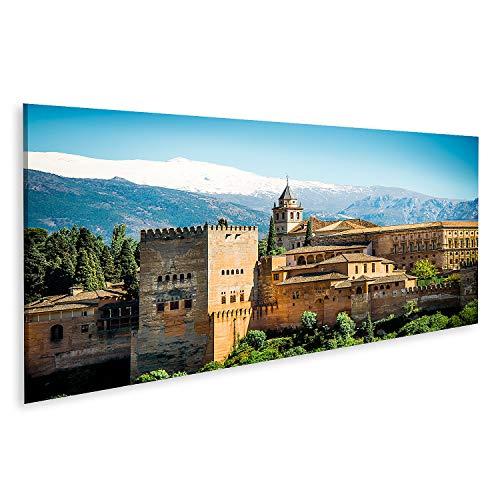 islandburner Cuadro en Lienzo Vista de la Famosa Alhambra de Granada España Cuadros Modernos Decoracion Impresión Salon