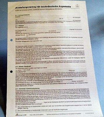 Arbeitsvertrag RNK 501 A4 Kaufmännische Angestellte
