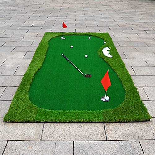 XINBAO Portable Golf Batting Mat-Mini Residential Practice Mat Excellent Golf Training Aid for Indoor Outdoor and Backyard Customizable