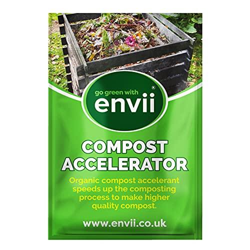Envii Compost Accelerator - Bio Kompostbeschleuniger - Schnellkomposter mit Mikroorganismen- 12 Tabs behandelt 5m