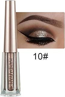 SH-Flying Sombra de Ojos con Brillo: Sombra de Ojos con Brillo y Brillo 12 Colores Shiny Diamond Color Liquid Shimmer de Sombras de Ojos