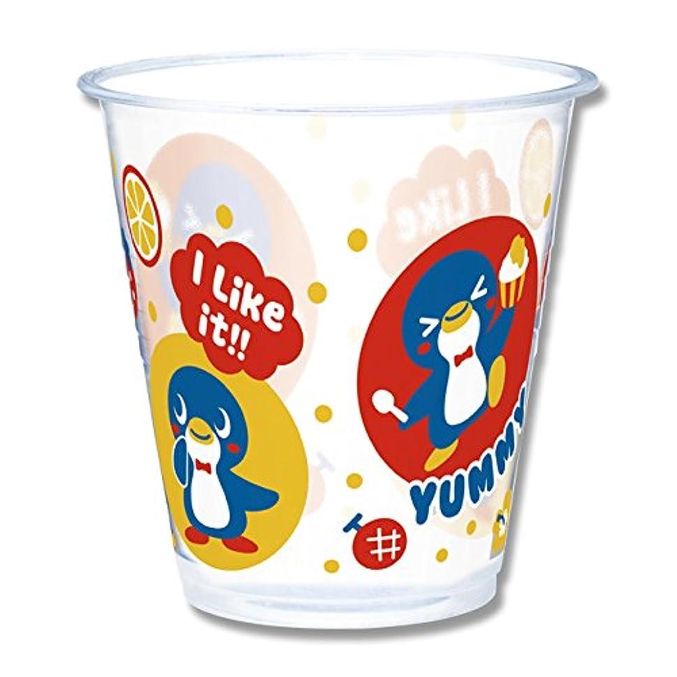 機械的インディカフローHEIKO プラスチックカップ ペンギン柄 360ml 100個