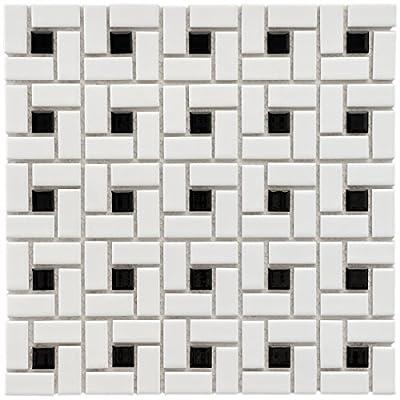 SomerTile Retro Spiral Porcelain Floor and Wall Tile