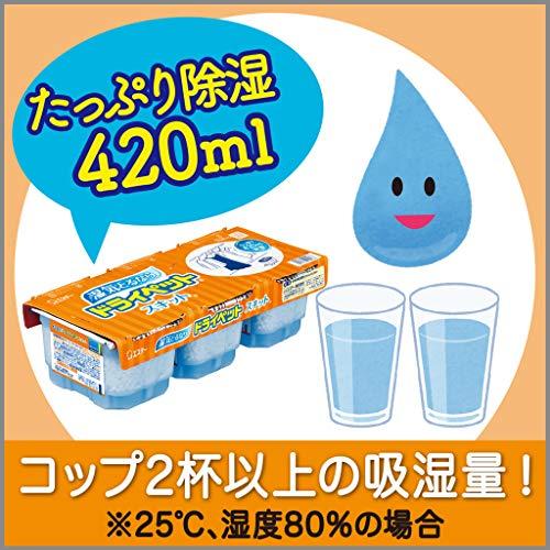 【まとめ買い】ドライペットスキット除湿剤使い捨てタイプ(420ml×3個パック)×4個