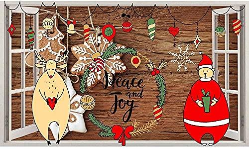 Etiqueta De La Pared Oso Navidad Lindo Etiqueta De La Pared Dormitorio Niña Niño Sala De Estar