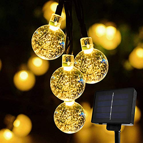 Solar String Lights Outdoor, Sunnest 30 LED 6M Waterproof Festival Lights LED Solar Lights Celebrate Wedding/Birthday/Christmas Party Colourful Solar String Lights