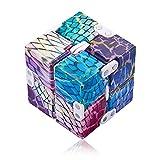 Yetech púrpura Infinity Cube Toy para Adultos y niños,Cubo Anti-estree,Puzzle Cube Durable Exquisito Juguete de descompresión,Alivia El Estrés TDAH Adicción Y La Ansiedad Toy para Adultos