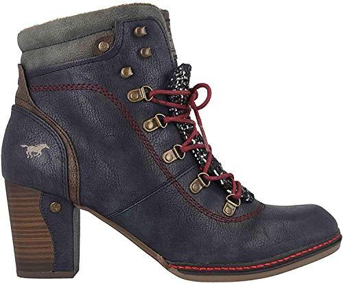 MUSTANG Shoes Stiefeletten in Übergrößen Blau 1287-519-820 große Damenschuhe, Größe:43