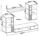 Küchen-Preisbombe TOP Wohnwand Salsa Anbauwand Wohnkombi Wohnzimmer Sonoma Eiche matt + schwarz - 3