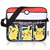 Bolsos Infantiles Negros Pokémon para Niños | Bolsa De Mensajero Deportiva con Pikachu | Mochila Pokemon con Correa Larga para Usar como Bandolera | Bolsa De Viaje Elegante | Regalo De Cumpleaños