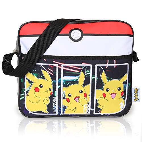 Pokémon sporttas voor jongens | kinderen messenger tas met Pikachu | lange crossbody drager | kinderen reistas | verjaardagscadeau voor jongens