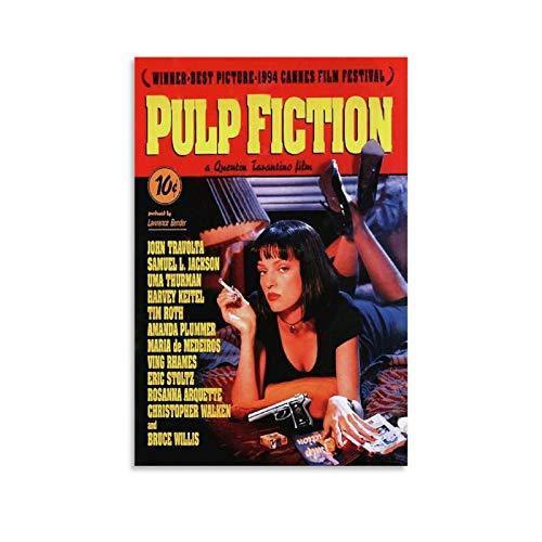 Duojimi Pulp Fiction - Poster vintage con film Mia Wallace