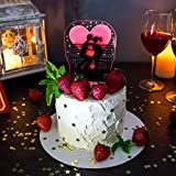 Wedding Cake Decor Love with Free Candles Gift / Lit Up Cake Topper - Flashing Lights Cake Decor - Nightstand Lamp Love Under The Moon