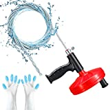 Drain snake,Duth Plumbing Snake Drain Auger, 25 Feet Heavy Duty Professional Flexible Clog Remover for Bathtub, Kitchen, Bathroom and Shower Sink, Comes with Gloves