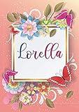 Lorella: Taccuino A5 | Nome personalizzato Lorella | Regalo di compleanno per moglie, mamma, sorella, figlia | Design: farfalla | 120 pagine a righe, piccolo formato A5 (14.8 x 21 cm)