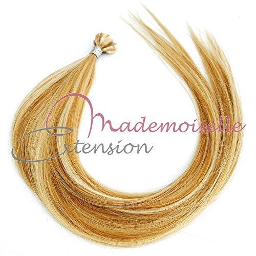 Extension Cheveux kératine - Gamme Density - Blond trés clair méché - 55/60 cm