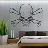 WERWN Cool Skull Vinilo Coche camión Furgonetas Pegatinas de Pared decoración del hogar Sala de Estar Dormitorio