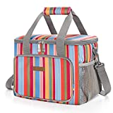 LUNCIA Soft Cooler Bag 15L 24 Cans Insulated Picnic Lunch Bag Cooling Bag for Outdoor/Camping/BBQ/Travel