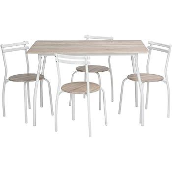 Tavolo de Pranzo Tavoli da Cucina con 4 sedie, in legno(blu