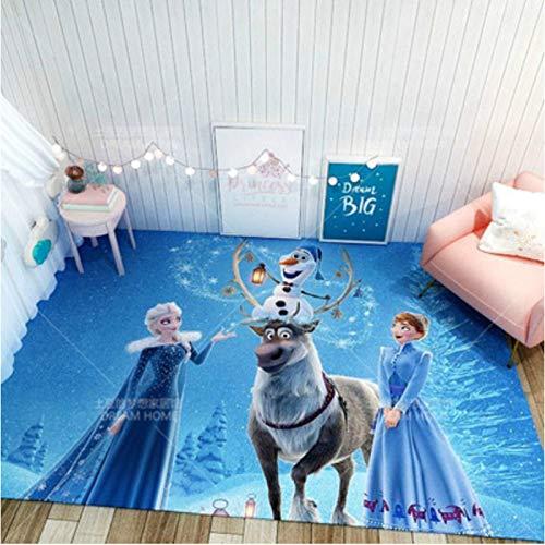 Frozen Alfombra Princess Aisha Alfombras de Noche para niños Guardería Alfombra de Piso para niños, Almohadilla Antideslizante Decoración para el hogar80x150cm