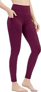 DILANNI Women's High Waist Yoga Pants with Pockets Running Workout Leggings Capri