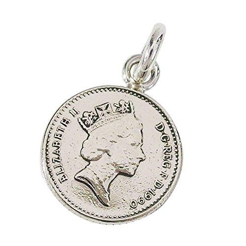 本物のイギリスのコインペンダント(5) コイン 硬貨 アクセサリー メンズ レディース 海外