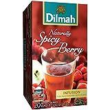 Dilmah Infusión de Hibisco, Mora, Canela, Naranja y Jengibre sin Cafeína - 1 x 20 bolsitas de té (30 gramos)