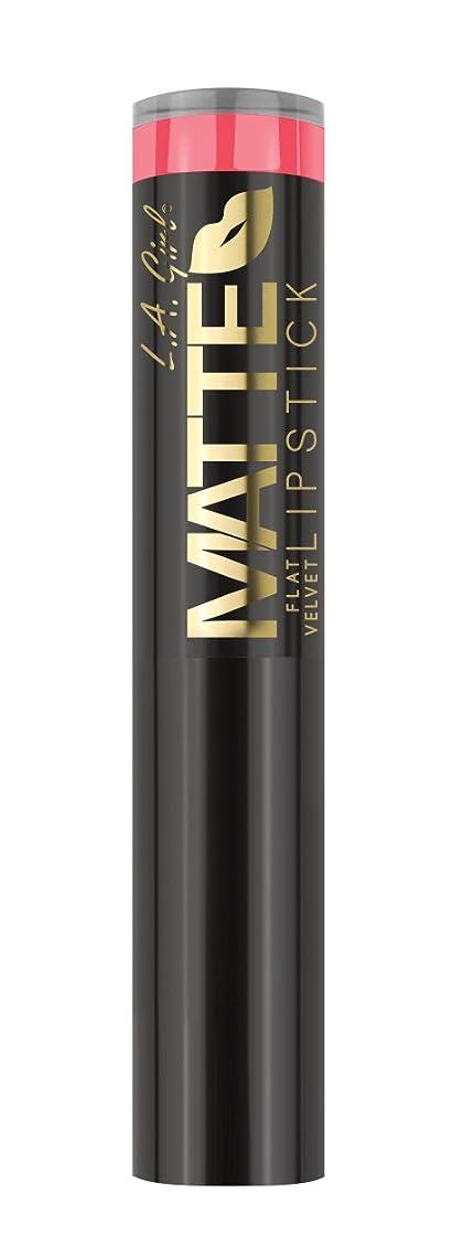 魅力的スカートバラ色L.A. GIRL Matte Flat Velvet Lipstick Blessed (並行輸入品)