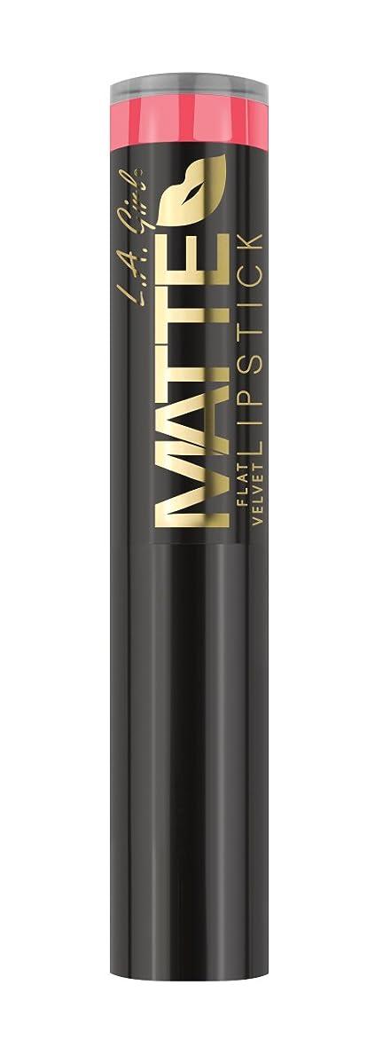 分数誤解を招くどこにでもL.A. GIRL Matte Flat Velvet Lipstick Blessed (並行輸入品)