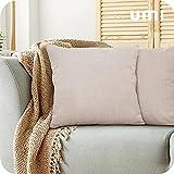 Amazon Brand – Umi Fundas de Cojin para Sofa Modernos Cubierta Color Liso 2 Piezas 45x45cm Amarillo