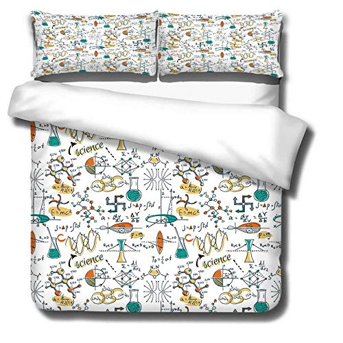 DJDSBJ Bettwäsche Set,Bettbezüge Weiche Polyester Baumwolle 260x240cm+2 Kissenbezüge,3D Drucken Bettbezug für Erwachsene und Kinder.Test Ausrüstung