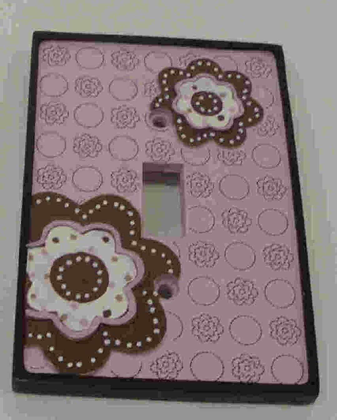 Beansprout Mod Daisy Switch Plate, Pink (Discontinued by Manufacturer)