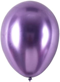 Metallic Purple Balloons for Party 100 pcs 5 inch Thick Latex Chrome balloons for Birthday Family Party Wedding Party Baby...
