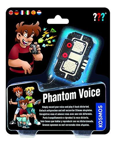 KOSMOS 665326 - Die drei ??? Phantomstimme, mehrsprachige Version (DE, EN, FR, IT, ES, NL) Recorder mit Stimmenverzerrer, Spielzeug, Detektiv-Ausstattung für Kinder, Experimentier Set