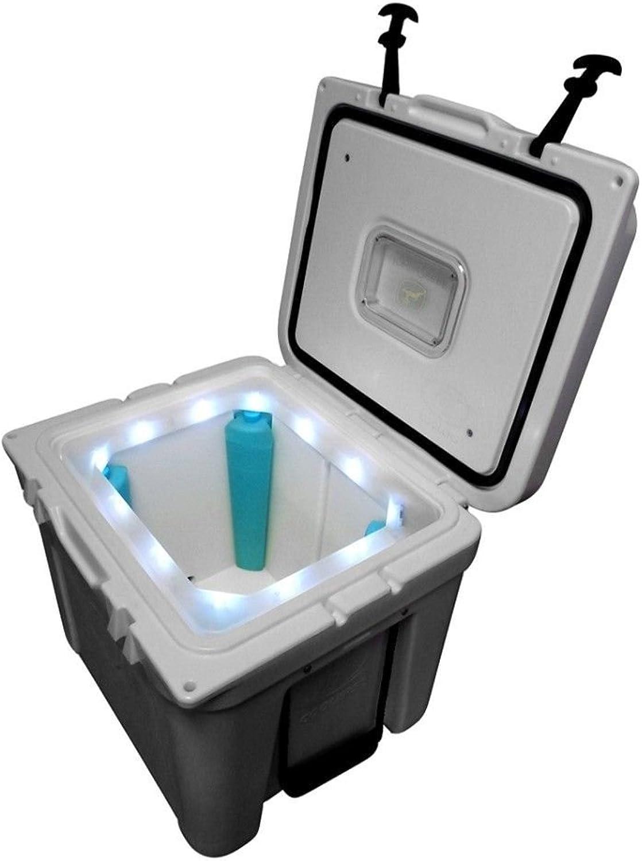 John Deere LiT LED Lined Construction Logo Halo TS400 White 8 Gallon Coolers