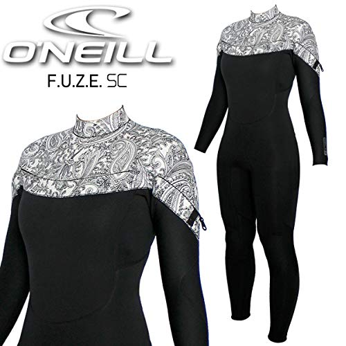 2020O'NEILL/オニールFUZESC/フューズSC3×2WF-7660チェストジップウェットスーツサーフィンフルスーツレディース春秋用ブラック/ペイズリーL