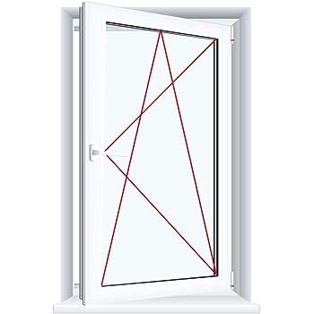 ALLE GR/Ö/ßEN BxH:70x80 cm DIN Rechts Premium Fenster Kellerfenster Kunststofffenster wei/ß 3 fach Verglasung Dreh-Kipp