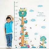 decalmile Animales Árbol Gráfica de Altura Pegatinas de Pared Niños Adhesivos Pared Infantiles Bebé Guardería Niños Dormitorio Salon Decoración de Pared