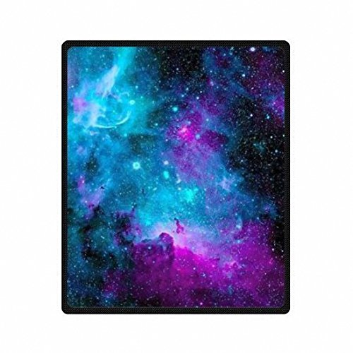 QH with Galaxy Velvet Plush Throw Blanket(Large) Super Soft and Cozy Fleece...