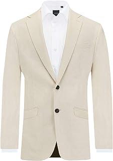 Dobell Mens Cream Suit Jacket Slim Fit Lightweight Linen
