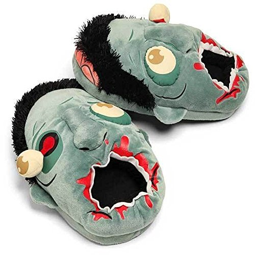 Katara 1708 - Witzige Horror Zombi Look Design Hausschuhe Pantoffeln Schuhe, Plüsch Warm Kuschelig, OneSize