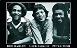 Close Up Bob Marley, Peter Tosh, Mick Jagger Poster (90cm x
