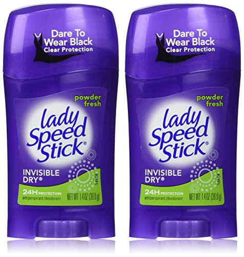 Lady Speed Stick Deodorant 1,4 Unze Powder Fresh Invisi Trocknen (41ML) (2 Stück)